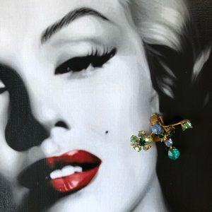 🔥 Vintage Austrian Crystal Clip On Earrings